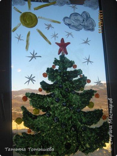 Роспись окон к Новому Году фото 1