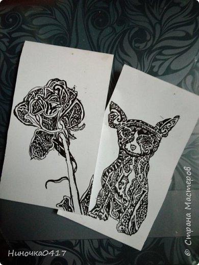 Сегодня сделала две закладочки: с розой и со щенком фото 1