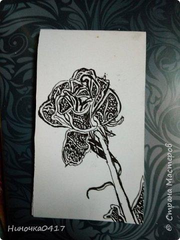 Сегодня сделала две закладочки: с розой и со щенком фото 2
