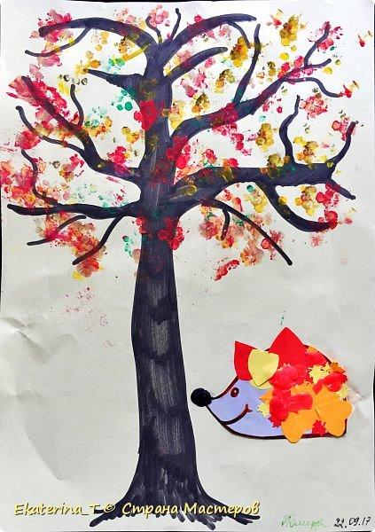Осень к нам приходит (поделка с дочкой, 2 года)