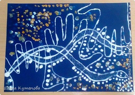 Еще одно занятие с детьми на классном часе по этно-живописи. В прошлый раз была Африка, а это было посвящено аборигенам Австралии и их точечной живописи. фото 4