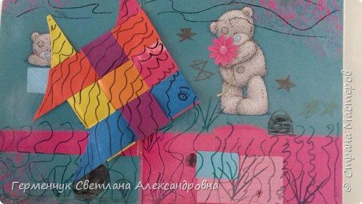 """Ребята 3 """"А"""" класса  учились переплетению полосок цветной бумаги . Получились  вот такие красавицы рыбки!  Придумывали  фантастические истории  со сказочными рыбками. Рыбка, которая познакомилась с акулой фото 22"""