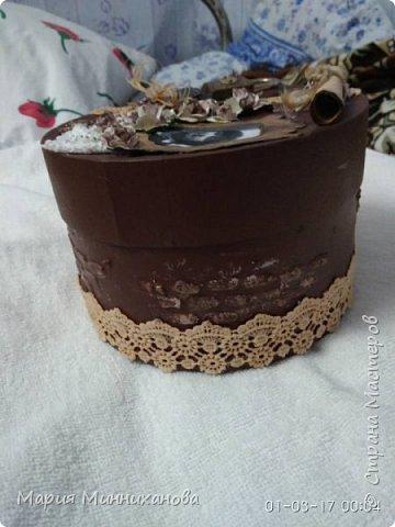 Вот такую шкатулку смастерила на подарок сестре.  фото 1