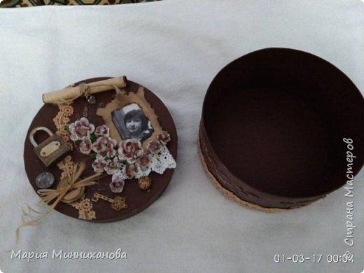 Вот такую шкатулку смастерила на подарок сестре.  фото 2