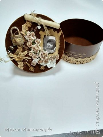Вот такую шкатулку смастерила на подарок сестре.  фото 3