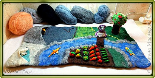Развивающий коврик из шерсти) фото 2