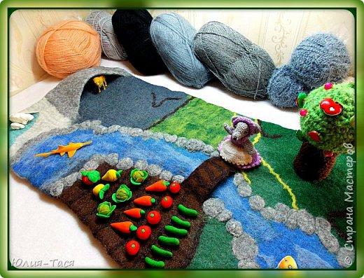 Развивающий коврик из шерсти) фото 1