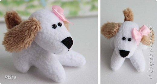 Первый раз рисовала игрушке глаза)) Но уж сильно хотелось чего то милого, и родился вот такой голубой щенок)))  фото 8