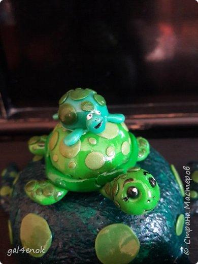 """Учительница сына, попросила сделать работу.. тема выставки в школе """" Малахитовая черепаха"""". Вот результат двух дней работы... фото 2"""