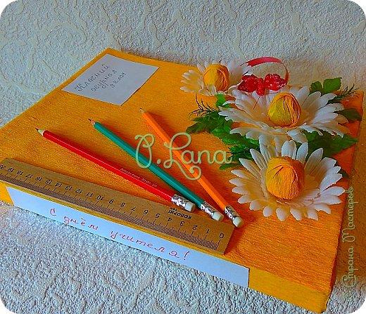 Здравствуйте,друзья! Сегодня хочу показать Вам оформленную мною коробку конфет к дню учителя. фото 3