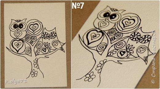 Здравствуйте!!  Не думала,что в ближайшие дни смогу сделать новую серию АТС,но вчера села только попробовать порисовать дудлики и вот сегодня показываю вам,мои дорогие,что у меня нарисовалось!)) Давно этого хотела! )) Вдохновилась и в инете,и у Иринки,которая живёт тут       http://stranamasterov.ru/user/191152      ,а её карточки в такой технике           http://stranamasterov.ru/node/1112135           и             http://stranamasterov.ru/node/1111573 фото 12