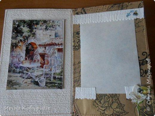 """Три открытки """"Утро Прованса"""". Картинки- распечатка на лазерном принтере. Прошивка люрексом. Кружева, лента, тюль, наклейки. фото 5"""