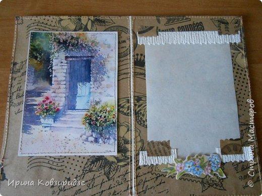 """Три открытки """"Утро Прованса"""". Картинки- распечатка на лазерном принтере. Прошивка люрексом. Кружева, лента, тюль, наклейки. фото 12"""