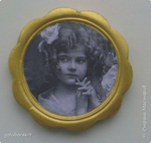 Рамочка гипсовая с распечаткой ретро фотографии. фото 1