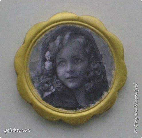 Рамочка гипсовая с распечаткой ретро фотографии. фото 2
