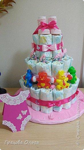 Торт из памперсов фото 2
