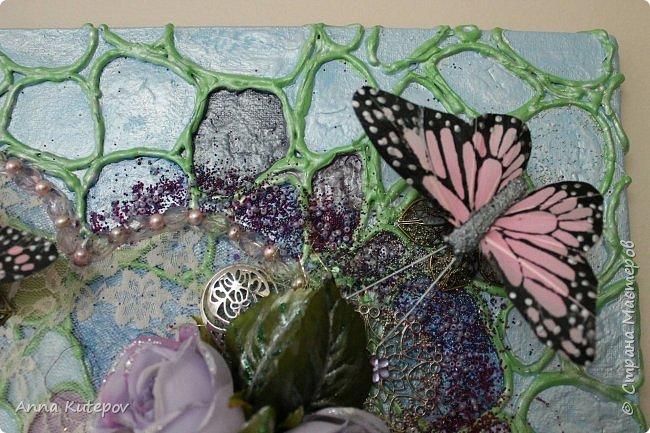 """Панно: """"Бабочки на сердце"""" фото 7"""