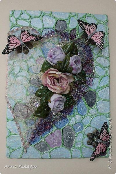 """Панно: """"Бабочки на сердце"""" фото 1"""