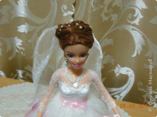 Вышла знакомая замуж, и как воспоминание о свадьбе попросила сделать куклу-шкатулку, чтобы невеста походила не оригинал  фото 4