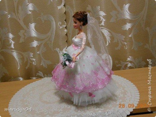 Вышла знакомая замуж, и как воспоминание о свадьбе попросила сделать куклу-шкатулку, чтобы невеста походила не оригинал  фото 5
