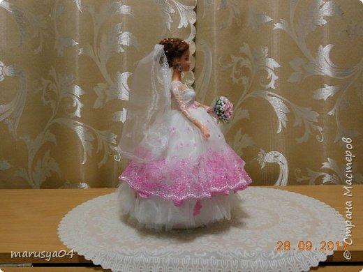 Вышла знакомая замуж, и как воспоминание о свадьбе попросила сделать куклу-шкатулку, чтобы невеста походила не оригинал  фото 2