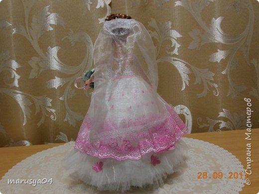 Вышла знакомая замуж, и как воспоминание о свадьбе попросила сделать куклу-шкатулку, чтобы невеста походила не оригинал  фото 7