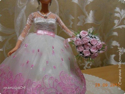 Вышла знакомая замуж, и как воспоминание о свадьбе попросила сделать куклу-шкатулку, чтобы невеста походила не оригинал  фото 6