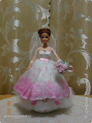 Вышла знакомая замуж, и как воспоминание о свадьбе попросила сделать куклу-шкатулку, чтобы невеста походила не оригинал  фото 1