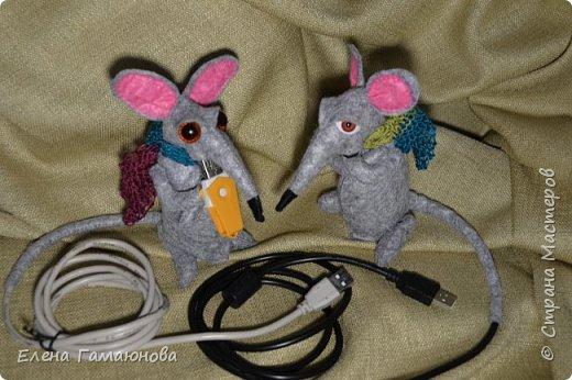 USB удлинитель «Старый крыс». Фетр. Высота 13 см.  фото 2