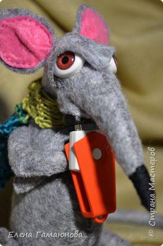 USB удлинитель «Старый крыс». Фетр. Высота 13 см.  фото 4