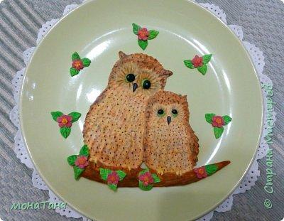 Добрый вечер.  У меня новая тарелка с милым сюжетом. Лепила по иллюстрации Kayomi Harai. фото 2