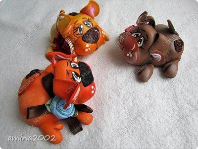 Добрый день! Собачки из фома , размер 7 х 5 см. фото 1