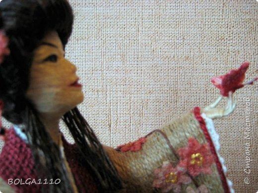 Душа девушки-бабочка Нежная как цветок сакуры Стремится на встречу любви  Здравствуйте мои дорогие жители страны.В японской поэзии я конечно не сильна,но так я вижу замысел этой шкатулки.После долгого творческого застоя ,у меня появилась вот такая девочка. Сделана  она для одной замечательной девушки,которая мечтает попасть в Японию. фото 6