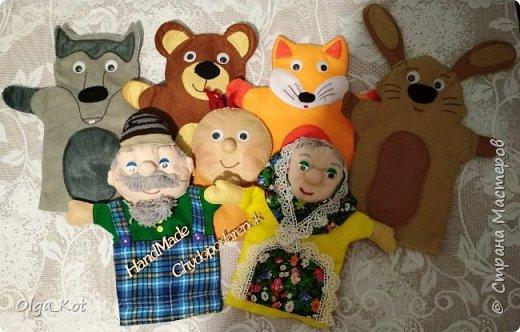 """Кукольный театр """"Колобок"""". Вот такие забавные получились персонажи... фото 1"""