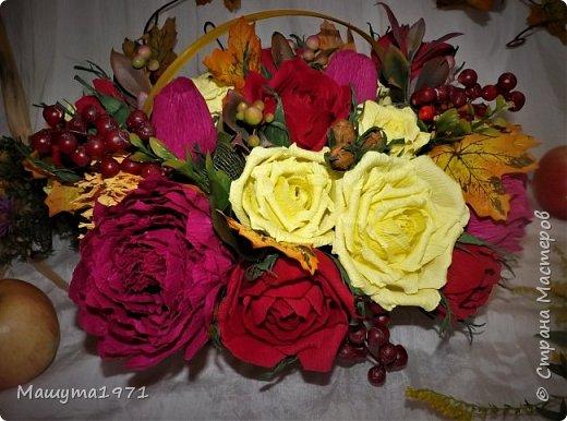 Добрый день! Моя сладкая цветочная  корзина к Дню учителя на подарок.