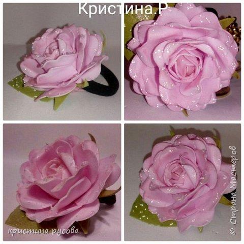Резинка для волос'Роза' из фоамирана