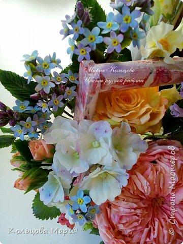 Всем привет! Хочу поделится своим мастер-классом по лепке незабудок, именно это фото живых цветов меня и вдохновило, старалась лепить цветочки так же с оттенками сиреневого и розового как на фото.  фото 16