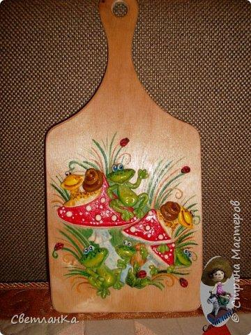 В подарок декорировала кухонные доски. фото 3
