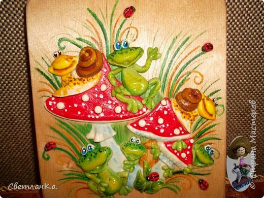 В подарок декорировала кухонные доски. фото 4