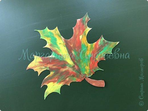 Осенние листья пластилином фото 1