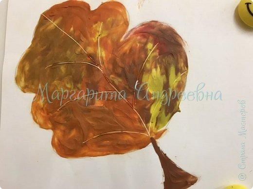 Осенние листья пластилином фото 4