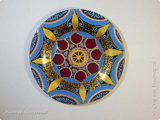 Точечная роспись декоративных тарелок. МК. Видео. фото 4