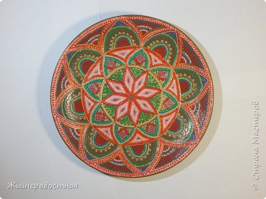 Точечная роспись декоративных тарелок. МК. Видео. фото 7