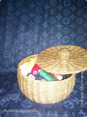 Сплела эту корзиночку для хранения ниток. фото 2