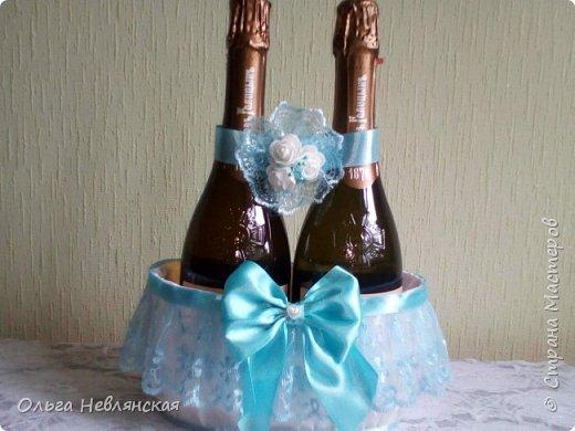 бутылки и фужеры для молодых фото 4