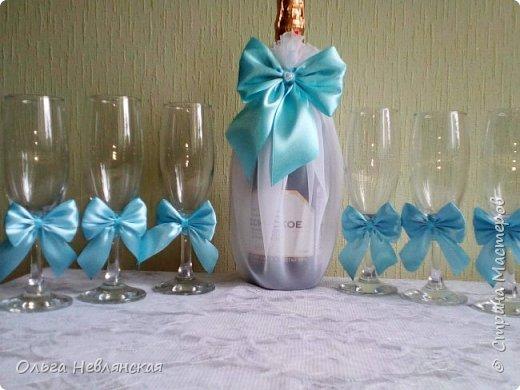 бутылки и фужеры для молодых фото 5