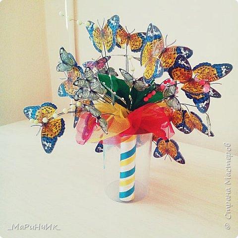 """Вот такой легкий """"бабочковый"""" букет родился на юбилей замечательной женщины. фото 4"""