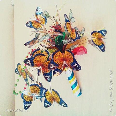 """Вот такой легкий """"бабочковый"""" букет родился на юбилей замечательной женщины. фото 5"""