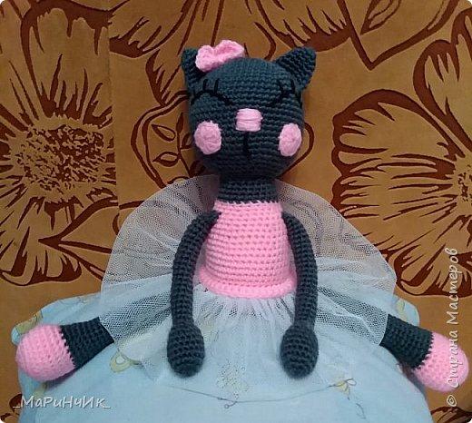 Кошечка - балерина, связана по схеме: https://amigurum.ru/2016/06/koshka-balerina.html. фото 2