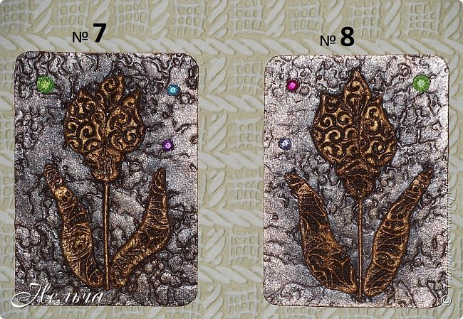 """АТС мини - серия """" Драгоценный цветок"""" в технике пейп-арт Татьяны Сорокиной. Вся серия ушла на погашение долгов. фото 12"""